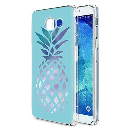 Pnakqil Coque Samsung Galaxy A3 2017, Transparente avec Motif Antichoc en Silicone Gel TPU Souple Ultra Mince Fine Housse de Protection Case Cover pour Samsung GalaxyA3, Ananas Bleu