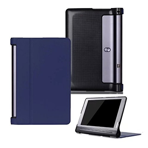 Kepuch Custer Funda para Lenovo Yoga Tab 3 Pus 10.1 YT-X703/Yoga Tab 3 Pro 10.1 YT3-X90L YT3-X90F,Slim Smart Cover Fundas Carcasa Case Protectora de PU-Cuero - Azul