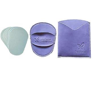 Guante depilatorio corporal natural de color malva, con estuche y 10 láminas de silicio. Guantes para eliminar el vello y las células muertas dejando tu piel totalmente suave y perfecta.