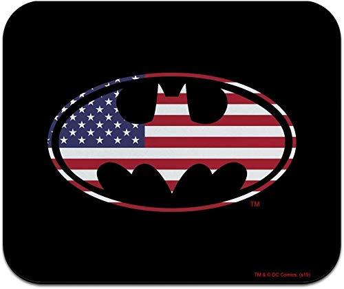 Alfombrilla de ratón fina Batman USA American Flag Shield con logotipo de la bandera de Estados Unidos