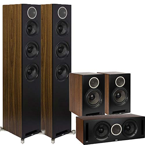 Fantastic Deal! Debut Reference 5 Channel ELAC Home Theater System Bundle - DFR52 Floorstanding Spea...