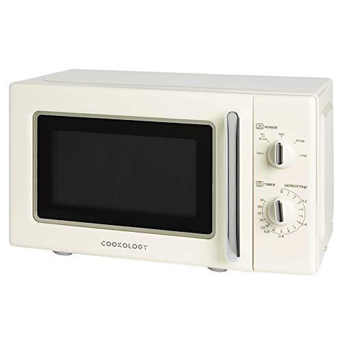 Cookology Retro Microwave in Cream RETMA20LCR 20L 700W Freestanding