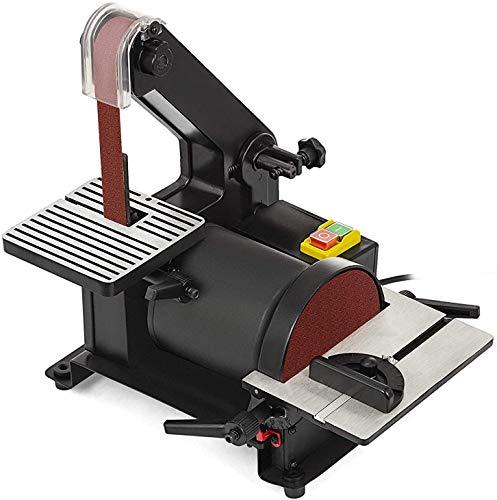 SISHUINIANHUA Correa y la lijadora de Disco 25.4X760MM / 127mm 300W / 230V Guía Ajustable lijadoras de Banda ángulo Ajustable y Mesa de Trabajo