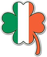 AK Wall Art Irish Flag Shamrock Shape Vinyl Sticker - Car Phone Helmet - Select Size