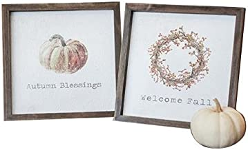 CWI Gifts 2/Set, Framed Autumn Blessings Easel Signs, Multicolored