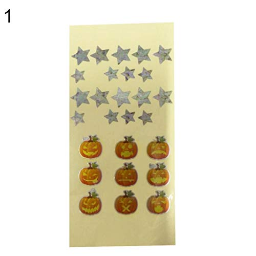 YSHTAN Gitaar Frets Sticker Orkestrale Instrument Stickers Cartoon Cat Paw Star Bedrukte Gitaar Frets Sticker Fretboard Markers Inlay Decals - Sterren