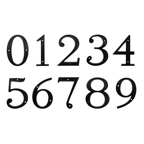 Numero de casa Signo de número 101mm Negro puerta de la casa de Big Huisnumer al aire libre Dirección números de buzón moderna casa Apartamento carteles de chapa de aleación de zinc