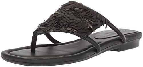 Donald J Pliner Women's Kya Slide Sandal, black, 6.5 Medium US
