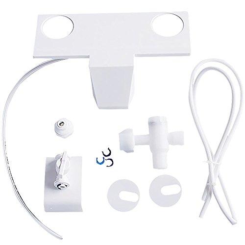 WC-Sitz-Bidet für 1,27 cm Wasserrohrverbindung, selbstreinigendes Sprühgerät, nicht elektrisch, mechanisch, Badezimmer-Spülung, Sanitärgerät (weiß)
