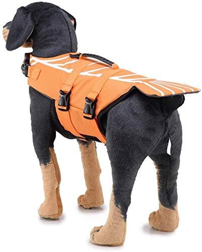Ccgdgft Huisdier benodigdheden Hond Drijvend Vest Hond Leven Jas Huisdier Badpak Reflecterende Badpak Kleding Hond Badpak, Groen, Oranje, Paars (S-L) (kleur : Groen, Maat : M), L, ORANJE