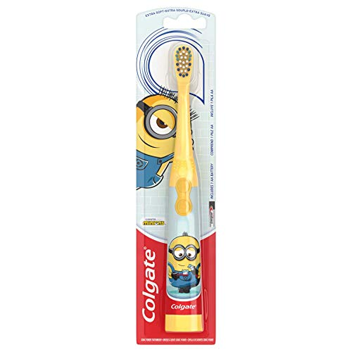 Colgate, Kids Battery Powered Toothbrush Minions Extra Soft Bristles, 1 Count, Color May Vary