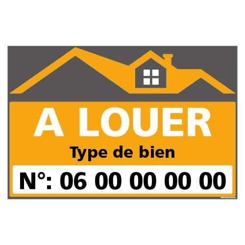 Panneau Immobilier Personnalisable à Louer avec...