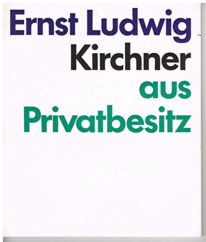 Ernst Ludwig Kirchner Aus Privatbesitz. Gemälde, Aquarelle, Zeichnungen, Graphik.