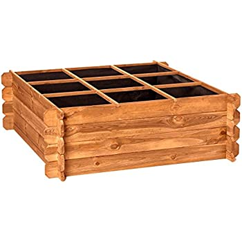 Hortalia Maceto Wood - Huerto Urbano Maceta de Cultivo, 60.50 x 30 ...