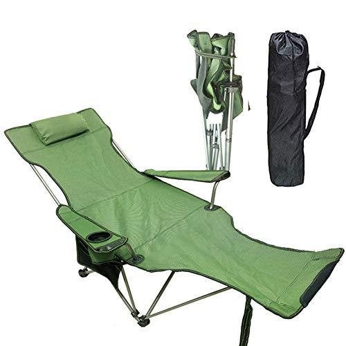 CHEN. Klappstuhl, Liege Mittagspause Stuhl, Portable ultraleichten Außen Erwachsener Auto Einzel Freizeit Strandkorb, Lager 120kg