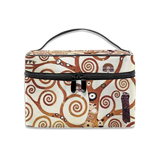 Tree of Life by Gustav Klimt Travel Cosmetic Case Organizer Portable Artist Storage Bag with, Built-in Pocket, Multifunction Case Toiletry Bags for Women