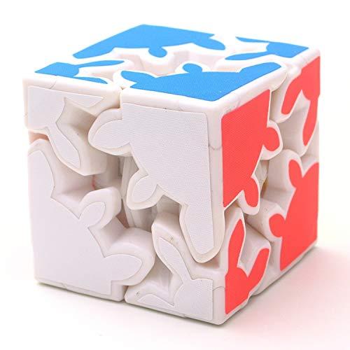 JIAMIN Cubo de Rubik de engranaje mágico cubo de cambio de velocidad, rompecabezas de juguete educativo para niños Twist Puzzle cubos mágicos juguetes de niños cubo Rubik (color: blanco)