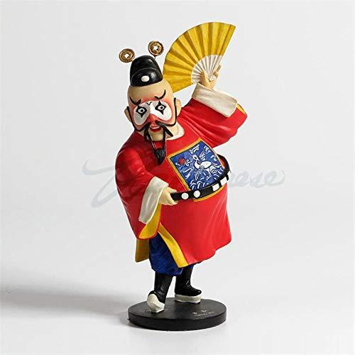 SHUANGBING Skulptur Dekoration Statue Kreative Decor Chinese Peking Opera Pierrot Statue Clown Figur Kunst Skulptur Harz Handwerk Dekoration Geburtstagsgeschenk R3108, Bunt