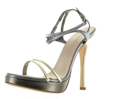 Dsquared Silver Real Leather Shoes, 40, Silver
