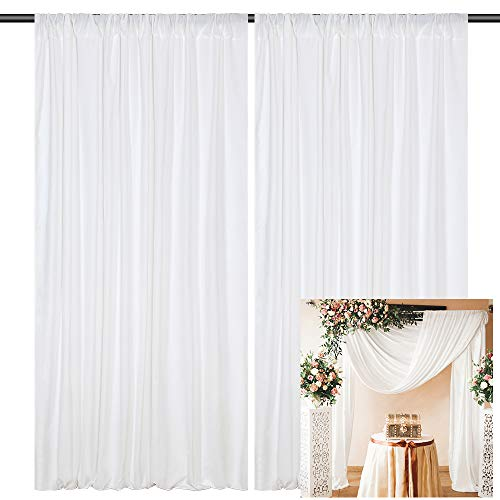 Wedding Backdrop Polyester Curtains 10x8ft Wedding Arch Kit Aobor Arrangement Swag Curtains for Ceremony Reception Backdrop Decoration