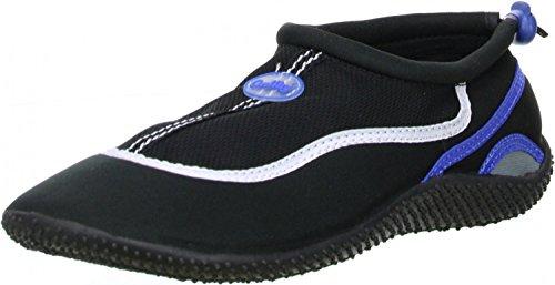 ConWay Damen Herren Wassersport Schwimm Badeschuhe schwarz/blau, Größe:41, Farbe:Blau