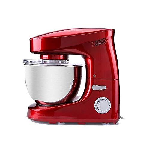 WZHZJ Máquina mezcladora de Alimentos de 6L, licuadora, batidora de Masa de Pan en Espiral, batidor de Huevos con Gancho para Masa, Cuenco extraíble, batido de Crema