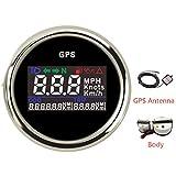 Vehicle Instrument 52mm Digital LCD GPS Speedometer for Motorcycle/Marine Boats/Vehicle Waterproof IP67 Gauge