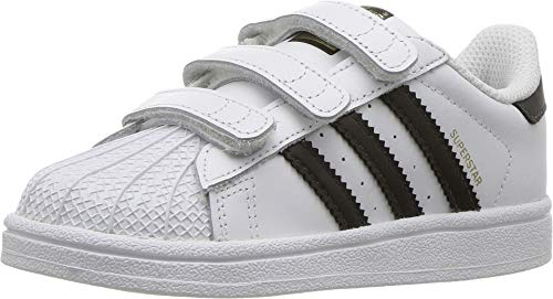adidas Originals baby boys Superstar Cloudfoam Sneaker, White/Core Black/White, 7 Toddler US