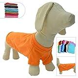 lovelonglong 2019 ropa de mascotas disfraces para perros Dachshund ropa en blanco camiseta camisetas para perros Dachshund, Corgi 100% algodón naranja D-M