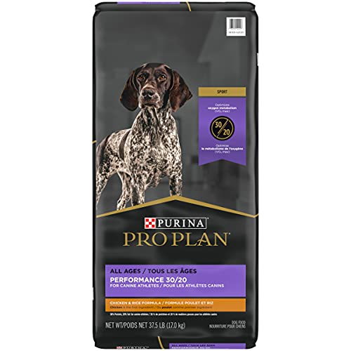 Purina Pro Plan High Calorie, High Protein Dry Dog Food, SPORT 30/20 Chicken & Rice Formula - 37.5 lb. Bag (Packaging May Vary)