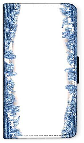blitzversand Flip Case zerrissene Jeans Hose Washing kompatibel für Huawei P8 Lite 2017 Jeans Look 9 Handy Hülle Leder Tasche Klapphülle Brieftasche Etui rund um Schutz Wallet M9