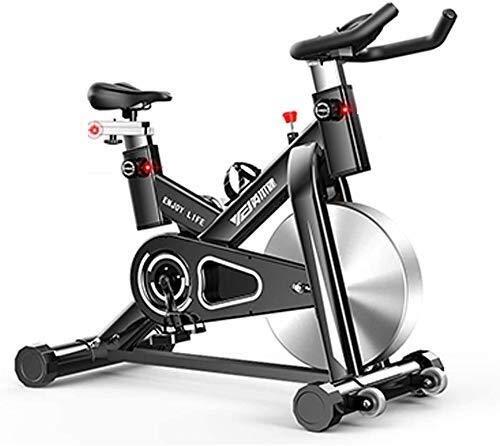 LKK-KK Giro de la bici,interior Ciclos de bicicleta de ejercicios estudio de ejercicio máquinas de cardio entrenamiento,manillares ajustables Asiento Capacidad Máxima de carga 100 kg inteligente APP M