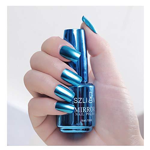 Hupoop Metallic Nagellack Magie Spiegeleffekt Chrom Nail Art Lack (J)