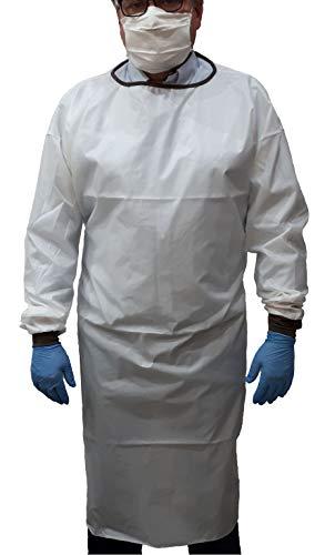 Tejidos para todo Camice Impermeabile Sanitario Abbigliamento Medico Lavabile Unisex