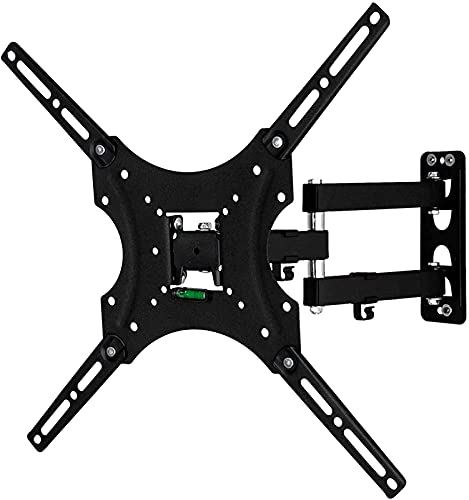 BNFD Upgraded TV Stand for New LED TV up to 55 Inch TV Bracket Dual Swivel Articulating Tilt Arms Low Profile TV Holder