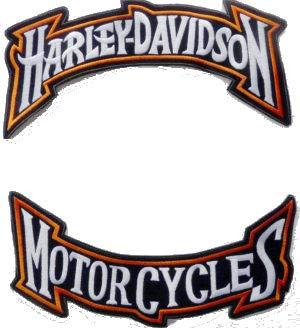 Generico Lot de 2 Grands Patchs pour Harley Davidson – Motorcycles stylisés