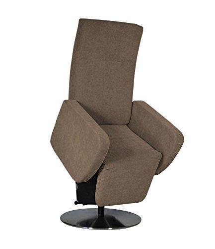 DEVITA elektrischer Aufstehsessel Fernsehsessel Relaxsessel Pflegesessel mit Aufstehhilfe Rimini Lift bis 130 kg (50 cm Sitzhöhe/mit Akku, Microfaser braun)