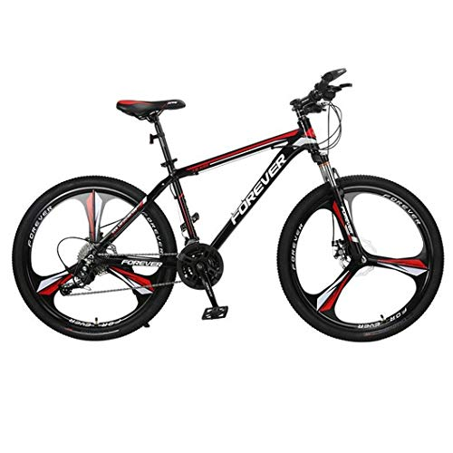 JLFSDB Mountain Bike,Aluminium Alloy Frame,Men/Women 26 Inch Mag Wheel,Double Disc Brake and Front Suspension (Color : Red, Size : 30 Speed)
