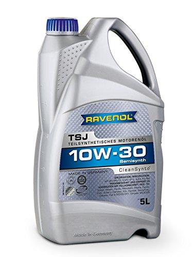 RAVENOL TSJ SAE 10W-30 / 10W30 Teilsynthetisches Motoröl, ACEA A3/B4 (5 Liter)