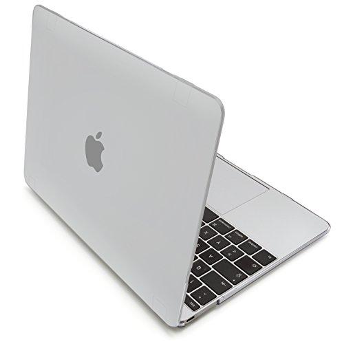 MyGadget Hülle Hard Case [Matt] - für Apple MacBook 12 Zoll Retina (ab 2015) mit USB C (A1534) - Schutzhülle Hartschalen Tasche Plastik Cover Transparent