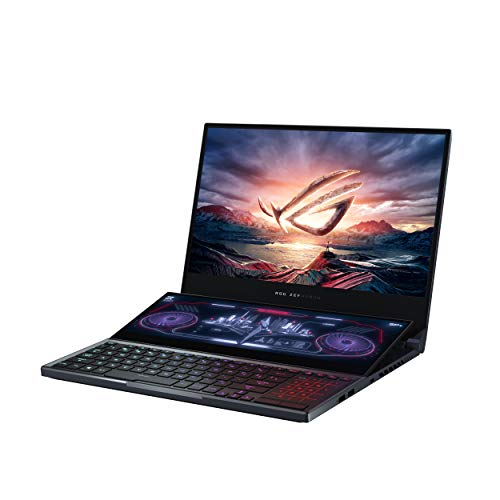"ASUS ROG Zephyrus Duo Gaming Laptop, 15.6"" UHD 4K Gsync + Secondary Display, Core i9-10980HK, NVIDIA GeForce RTX 2080 Super, 32GB DDR4, 2TB RAID 0, Thunderbolt 3, Wi-Fi 6, Win10 Pro, GX550LXS-XS99"