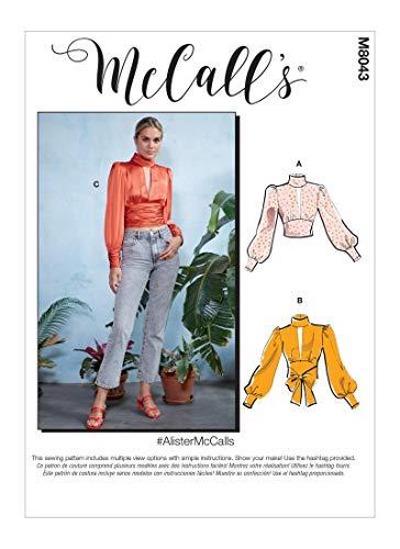 McCalls Patroon M8043E5 Misses' Tops, Papier, Diverse, E5 (14-16-18-20-22)