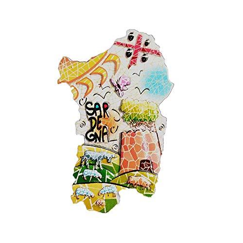 Kühlschrankmagnet in 3D-Form von Sardinien, Insel, Italien, Souvenir, Geschenk, Dekoration, magnetischer Aufkleber, Sardegna Kühlschrankmagnet Kollektion