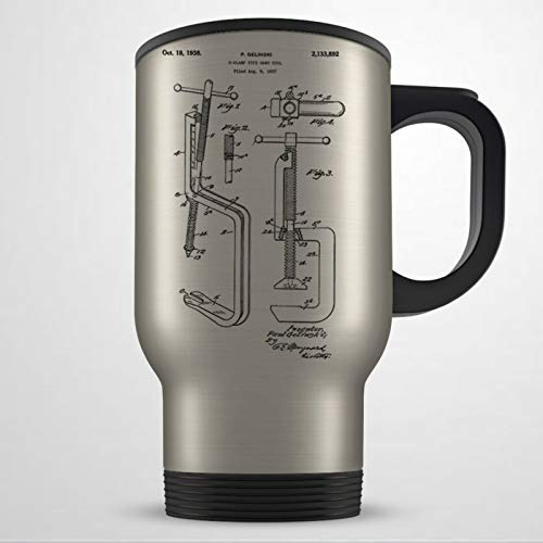 Taza de viaje para carpintero con diseño de carpintero, regalo de carpintero, para hombres y mujeres, regalo de carpintería, taza de viaje, taza de café, taza de té, regalo de vacaciones