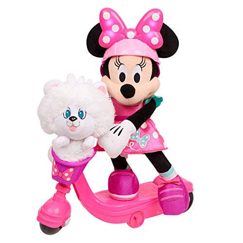 Minnie Helper Scooter 13' Feature Plush,...