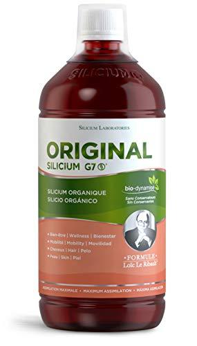 G7 Original Formule améliorée. Complément de Silicium Liquide. Favorise la Production de Collagène Natif. Complément Alimentaire Peau. Pousse Cheveux très rapide. Traitement de 33jours.