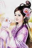 Pintura digital de bricolaje pintura acrílica lienzo lienzo arte de niña antigua DIY kit de pintura al óleo decoración 30 * 40 cm