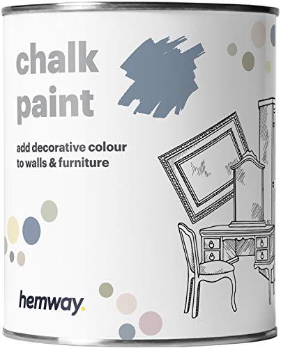 Hemway - Kreidefarbe für Möbel & Wände - matt - renoviert - 1 Liter - Denim