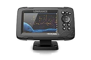 Lowrance HOOK Reveal 5x SplitShot - 5-inch Fish Finder with SplitShot Transducer GPS Plotter