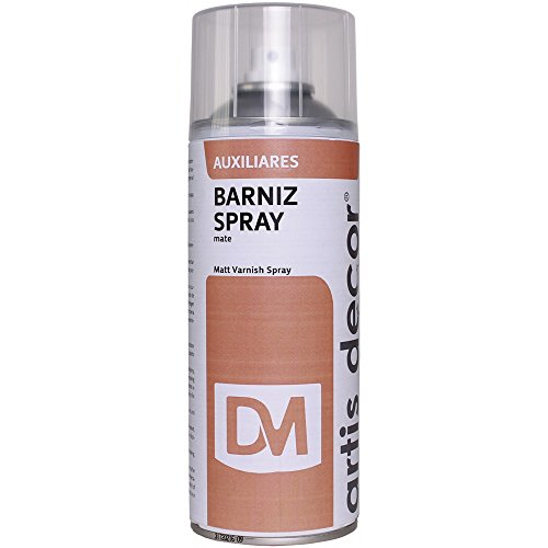 BARNIZ MATE SPRAY ARTIS DECOR 400ML (MADERA, CRISTAL, PAPEL, CERÁMICA, METAL)